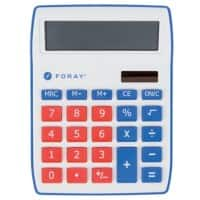 Foray Generation Desktop Calculator 10 Digit Display Red, Blue