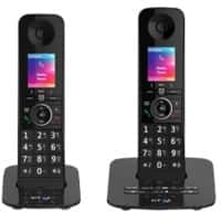 BT Telephone Premium Twin Black 2 Pieces