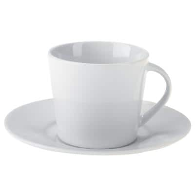 Niceday Cup and Saucer Set Porcelain 175ml White Pack of 6