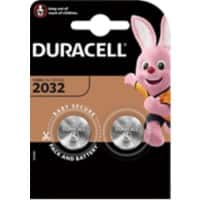 Duracell Button Cell DL2032B2 Batteries CR2032 3V Lithium 2 Pieces