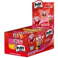Pritt Glitter Glue Stick Red, Yellow & Pink 20g Pack of 24