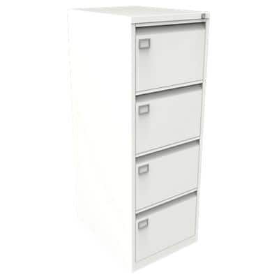 Bisley Filing Cabinet with 4 Lockable Drawers AOC4 470 x 622 x 1321mm Cream