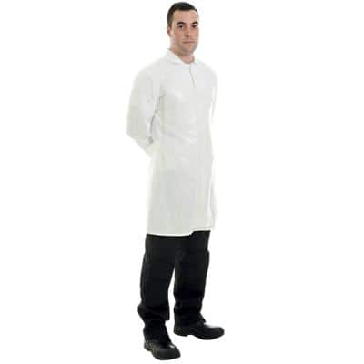 Supertouch Apron Flat Pack Mesh White 100 Pieces