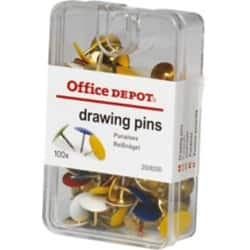 Office Depot Drawing Pins Assorted 100 pieces