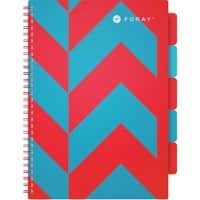 Foray Project Book Turquoise Ruled Perforated A4 350 sheets  29.7 x 23.5 cm Polypropylene Extreme Red