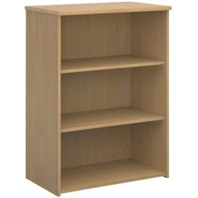Dams International Bookcase with 2 Shelves Universal 800 x 470 x 1090 mm Oak