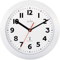 Acctim Analog Wall Clock 74312 23 x 3.2cm White