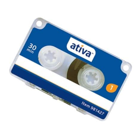Ativa 30 Minute Mini Cassette Tapes