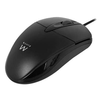 ewent Wired Mouse EM3154 Optical For Right And Left-Handed Users 1.6 m USB-A Cable Black