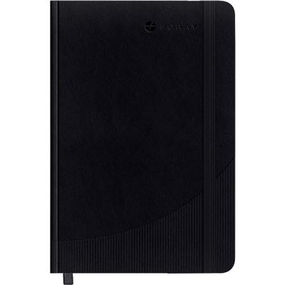 Foray Classic A4 Casebound Black Hard Cover Notebook Plain 160 Pages