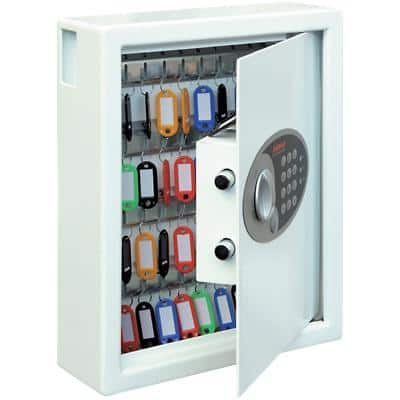 Phoenix Key Deposit Safe 48 Hook with Electronic Lock Cygnus KS0032E 300 x 100 x 360mm White