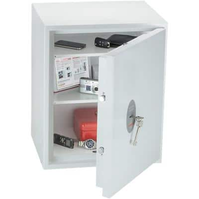 Phoenix Security Safe with Key Lock Fortress SS1183K 450 x 350 x 550mm White