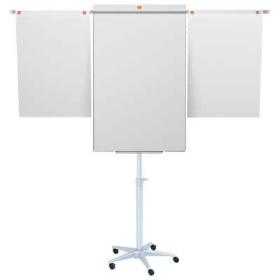 Nobo Freestanding Mobile Easel with Adjustable Height Classic Nano Clean 70 x 190cm White