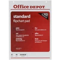 Office Depot Plain Standard Flipchart Pads Perforated A1 70gsm 40 Sheets Pack of 5