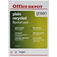 Office Depot Wall Mountable Plain Flipchart Pads Perforated A1 70gsm 20 Sheets
