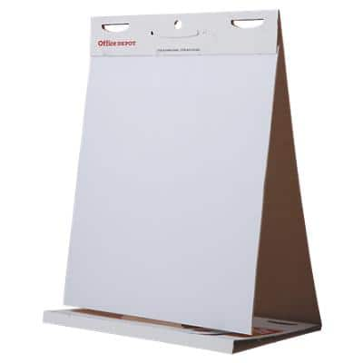 Office Depot Freestanding Table Top Easel 600 x 50cm White 20 Sheets