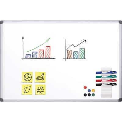 Office Depot Wall Mountable Magnetic Whiteboard Enamel Superior 150 x 100 cm