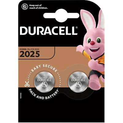 Duracell Button Cell DL2025B2 Batteries CR2025 3V Lithium Pack of 2