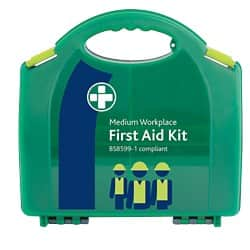 Green First Aid Kit For Workplace Medium Aura Box