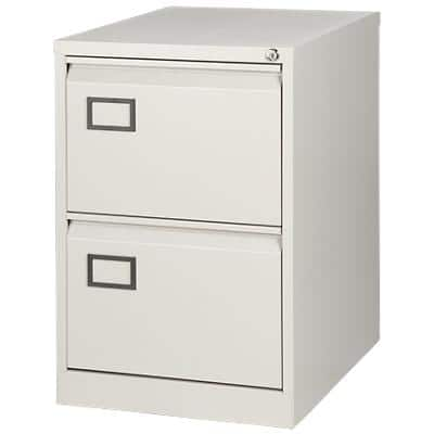 Bisley Filing Cabinet with 2 Lockable Drawers AOC2 470 x 622 x 711mm Grey