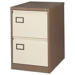 Realspace Pro Two drawer filing cabinet - coffee / cream