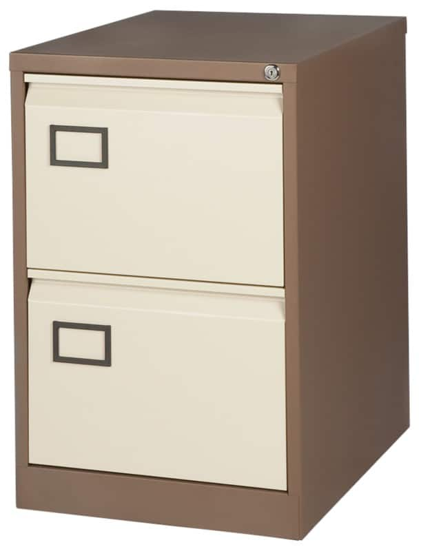 Realspace Pro Two Drawer Filing Cabinet   Coffee / Cream