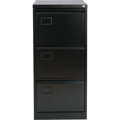 Bisley Filing Cabinet with 3 Lockable Drawers AOC3 470 x 622 x 1016mm Black