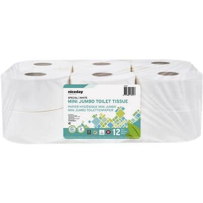 Niceday Professional Toilet Rolls Standard 2 Ply 557 Sheets Pack of 12