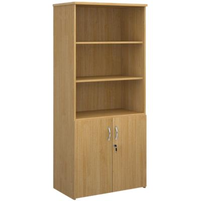 Dams International Combination Unit with Lockable Door and 3 Shelves Universal 800 x 470 x 1790 mm Oak