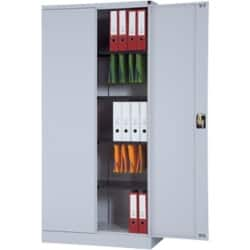 Realspace 1950 mm Steel 2 Door Cupboard - Grey 1950 H X 950 W x 450 D mm