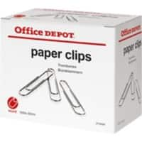 Office Depot Paper Clips Round 50 mm Silver 1000 Pieces