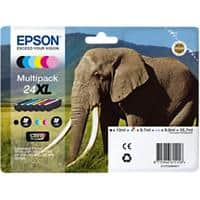 Epson 24XL Original Ink Cartridge C13T24384011 Black & 5 Colours Pack of 6