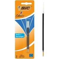 BIC Ballpoint Pen Refill 4 Colours 0.4 mm Blue Pack of 2