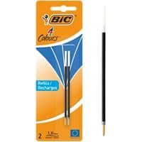 BIC Ballpoint Pen Refill 4 Colours 0.4 mm Blue 2 Pieces