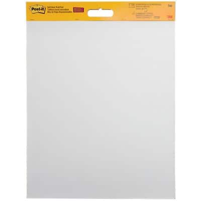 Post-it Self Stick Plain Meeting Chart Unperforated 70gsm 50 x 60 cm White 20 Sheets Pack of 2