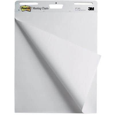 Post-it Wall Mountable Meeting Chart 63.5 x 76.2 cm White 30 Sheets Pack of 2