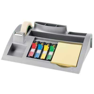 Post-it Desk Organiser C50 Plastic Silver 25.6 x 16.6 x 6.8 cm