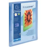 Exacompta Kreacover Ring Binder 15 mm Polypropylene 4 ring A4 Blue 12 Pieces