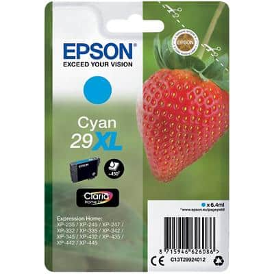 Epson 29XL Original Ink Cartridge C13T29924012 Cyan