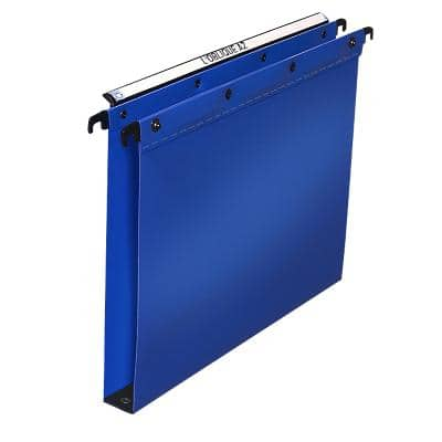 ELBA Vertical Suspension File Polypro Ultimate A4 Base 30 mm Blue Polypropylene Pack of 10