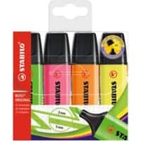 Stabilo Boss Highlighters Assorted Pack of 4