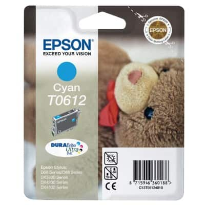 Epson T0612 Original Ink Cartridge C13T06124010 Cyan