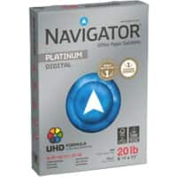 Navigator Platinum Digital Copy Paper 75gsm White US-Letter-Format 5 Packs of 500 Sheets