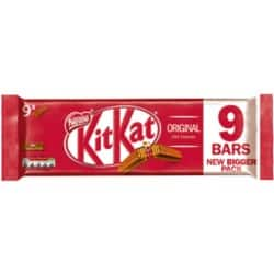 Nestlé Milk Chocolate Biscuit Bar 9 pieces