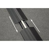 D-Line Floor Cable Cover Linkable Black 8.3 x 900 x 1 cm