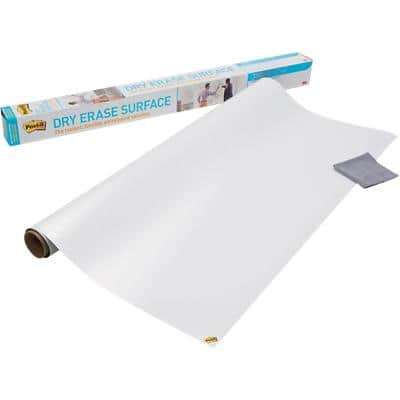 Post-it Dry Erase Film Super Sticky White 121.9 x 91.4 cm