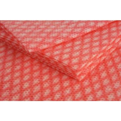 Stronghold Cleaning Cloths Red 50 x 38cm Pack of 50