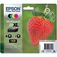 Epson 29XL Original Ink Cartridge C13T29964012 Black & 3 Colours Pack of 4