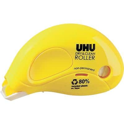 UHU Glue Roller Blister 6.5mm x 8.5m Yellow Non-Permanent
