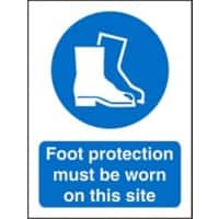Mandatory Sign Foot Protection Plastic 20 x 15 cm